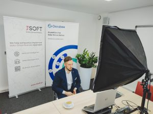 Dr inż.Kamil Folkert, Chief Technology Officer, 3Soft, podczas prelekcji naBig Data Technology Warsaw Summit.