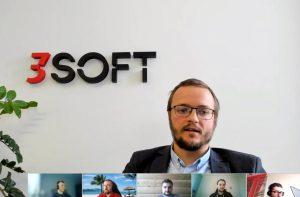 Michał Bochenek, Head of Architecture, 3Soft podczas sesji roundtable naBig Data Technology Warsaw Summit.